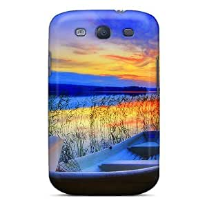 Galaxy S3 Case Slim [ultra Fit] Let's Go Fishing Protective Case Cover