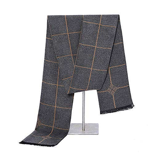 - Mens Classic Cashmere Winter Warm Scarf - PoilTreeWing Long Soft Tassel Scarf