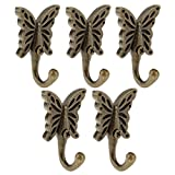 Vintage Antique Wall Door Hooks Hanger For Clothes Coat Hat Bag Towel Pack of 6