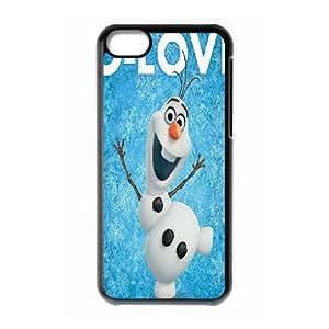 Olaf muñeco de nieve congelada R5K77H7AA funda iPod Touch 6 caso funda 176XN0 negro