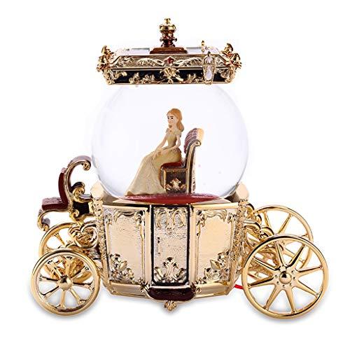 (Music Box Musical Boxes Crystal Ball Fashion Rotating Girls Birthday Gift Cinderella Pumpkin Carriage Best Gift)