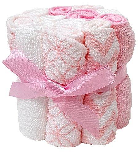 Wascht/ücher 12er Pack rosa