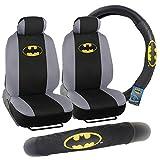 Batman Front Seat Covers & Steering Wheel Cover Gift Pack - Warner Bros Gear