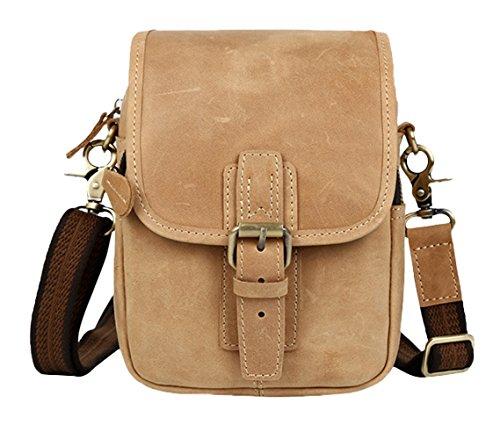 Insun - Bolso de hombro hombre marrón claro