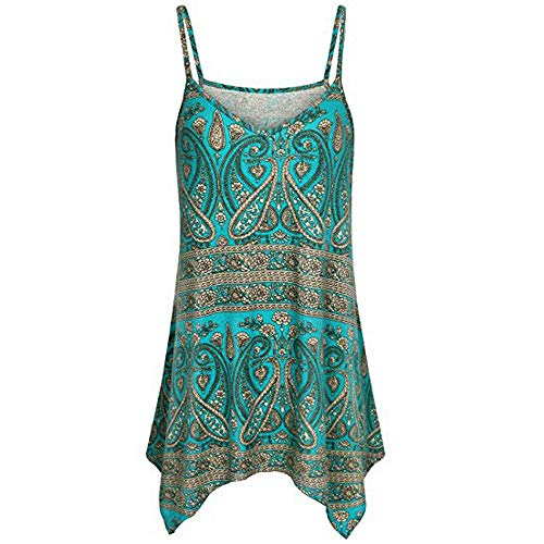 Adeliber Sleeveless Blouse Women's V Neck Strappy Loose Flowy Tank Tops Cute Summer Casual Printed Sleeveless Shirts - Yoke Surplice
