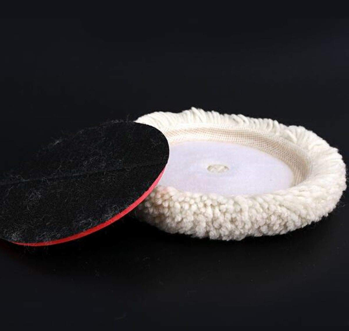 Cutting /& Polishing 2 Pack 6 Buffing Pads with Hook and Loop Back for Compound Sisha Wool Polishing Pads 100/% Natural Wool Thick and Aggressive