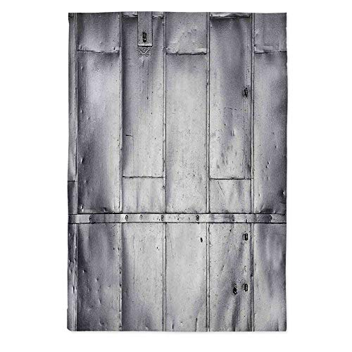 Industrial Soft Tablecloth,Steel Panels Industrial Wall Theme Aluminum Background Futuristic Engineering Print Decorative for Buffet Table Parties Holiday Dinner Wedding & More,52''W X 70.1''L