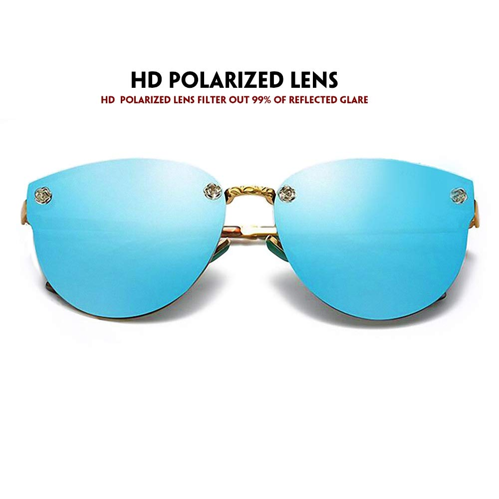 Amazon.com: IALUKU - Gafas de sol sin borde para mujer con ...