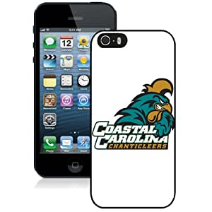 Beautiful And Popular Designed With NCAA Big South Conference Coastal Carolina Chanticleers 1 Protective Cell Phone Hardshell Cover Case For iPhone 5S Phone Case Black