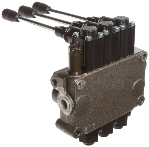 Prince MB31BBB5C1 Directional Control Valve, Monoblock, Cast Iron, 3 Spool, 4 Ways, 3 Positions, Single Acting Cylinder Spool, Spring Center, Straight Handle, 3500 psi, 8 gpm, In/Out: #8 SAE, Work #8 SAE by Prince Manufacturing (Image #2)