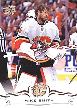 32ad2b68f 2018-19 Upper Deck  27 Mike Smith Calgary Flames NHL Hockey Trading Card