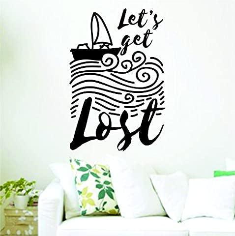 Let's Get Lost Quote Inspirational Design Wall Decal Sticker Vinyl Graphic - Lost Soles Vinyl