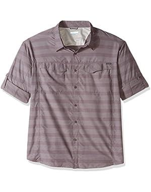 Men's Big-Tall Silver Ridge Plaid Long Sleeve Shirt, Purple Sage Stripe, 3X