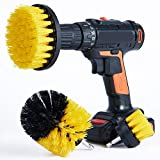 Cooptop Medium Bristles Drill Brush Set of 3 - Bathroom & Kitchen Scrub Brush Cleaning Kit - Great for Cleaning Bathtubs, Shower, Sinks, Tiles and Much More