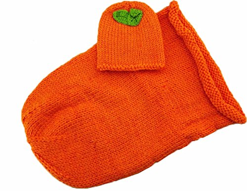 Newborn Baby Handmade Halloween Pumpkins Crochet Knitted Costume Hat Sleeping Bag Photo Photography (Old Halloween Costume Pictures)
