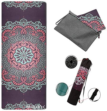 TXK Yoga Mat Non Slip Hot Yoga Mat,Eco-Friendly Natural Rubber Best for Yoga, Pilates, Exercise, Workout, Bikram and Hot Yoga. Luxury Sweat- Grip Mat.