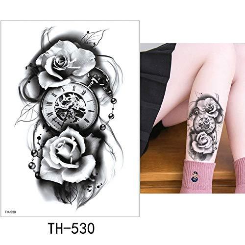adgkitb Etiqueta engomada del Tatuaje Temporal de la Hoja 3pcs ...