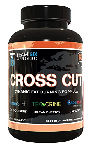 T6 CROSS CUT, All Natural Thermogenic Fat Burner - Intense Weight Loss Supplement, 60 Veggies Capsules