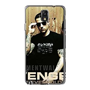 VIVIENRowland Samsung Galaxy Note3 Protective Cell-phone Hard Covers Allow Personal Design Lifelike Avenged Sevenfold Pattern [JDj13392UPnD]