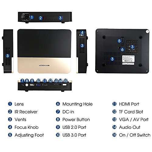 EUG DLP 3D 4K Bluetooth Projector