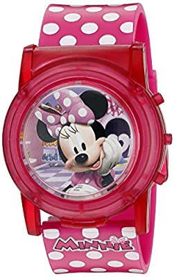 Disney Girl's Quartz Plastic Casual Watch, Color Pink (Model: MBT3714SR) by Accutime Watch Corp.
