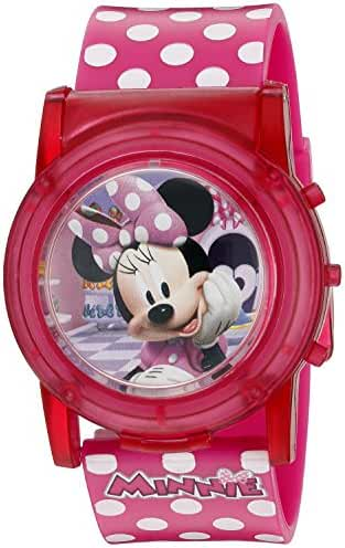 Disney Girl's Quartz Plastic Casual Watch, Color:Pink (Model: MBT3714SR)