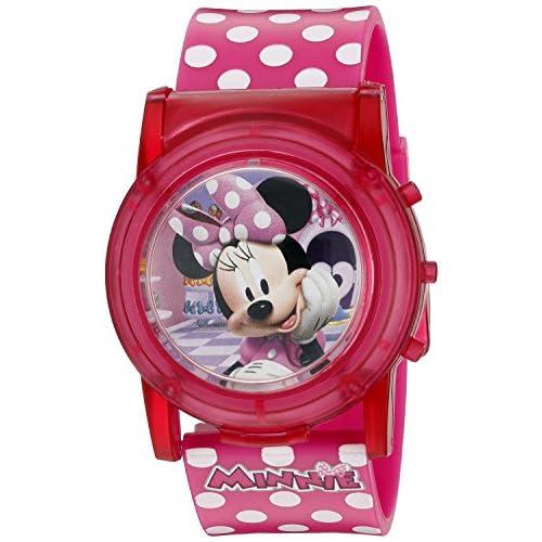Disney Girl's Quartz Plastic Casual Watch, Color:Pink (Model: MBT3714SR)