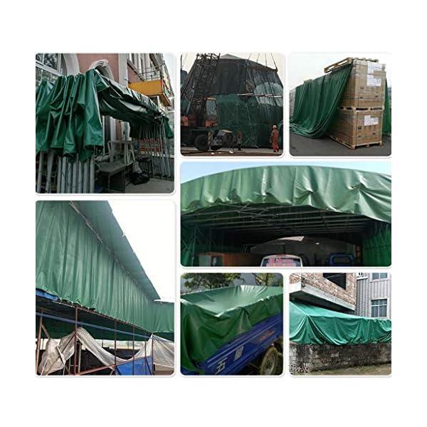 DUWEN Telo di copertura impermeabile in PVC spesso, multiuso, per giardino, campeggio, viaggi, grande tenda 6 x 10 m. 7 spesavip