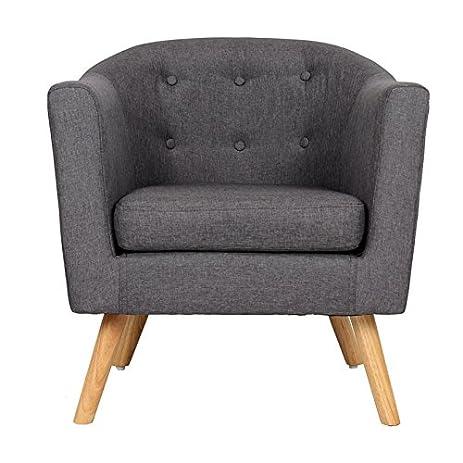 FCH Single Chair Sofa Modern Accent Armchair Home Living Room Bethroom  Furniture Sofa Chair (Grey