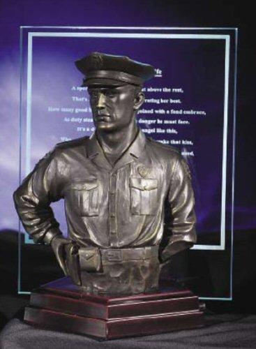 Vanmark Blue Hats Bravery (Blue Hats of Bravery Statue a Hero's Wife Poem Figurine Bust)