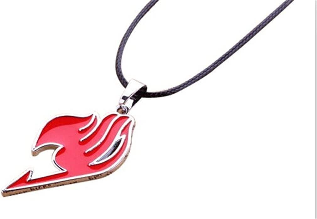 USA Seller Cosplay Fairy tail Symbol Metal Necklace Pendant Red