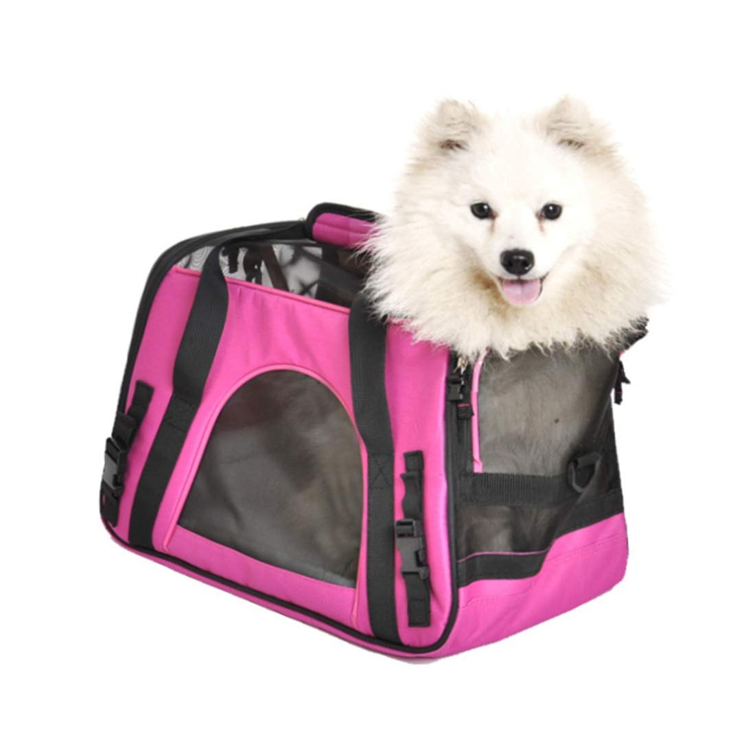 pink red FELICIPP Large Pet Carrier Tote Around Town Pet Carrier Portable Dog Handbag Dog Purse For Outdoor Travel Walking Hiking (color   pink red)