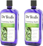 Dr. Teal's Foaming Bath, Eucalyptus Spearmint, 68 Fluid Ounce (34oz per bottle)
