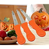 ANDES 3pcs Pumpkin Carver Halloween Lantern Face Pattern Tools (Orange)
