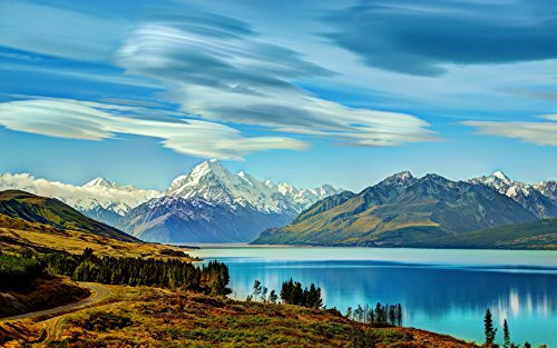 Adult Jigsaw Puzzle Nature Mountains Sky Lake Alpine New Zealand 500-Pieces