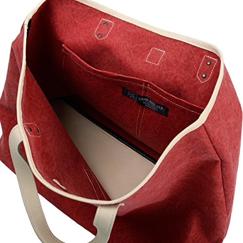 Damen Schultertasche Rot rot Land And Sea