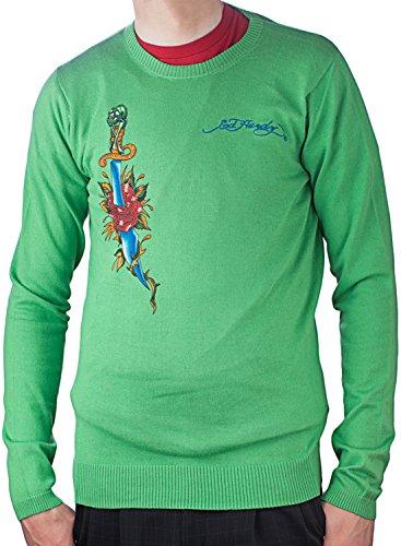Ed Hardy Mens Snake Eagle Crewneck Sweater - Mint - -