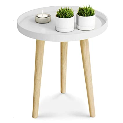 Merveilleux ZAYBJ XRXY Side Table, Simple Solid Wood Mini Small Round Table Bedroom  Table Corner Bedside