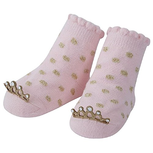 Popcorn Butter Server (Gold Polka Dot Crown Socks. Size 0-12 Months.)