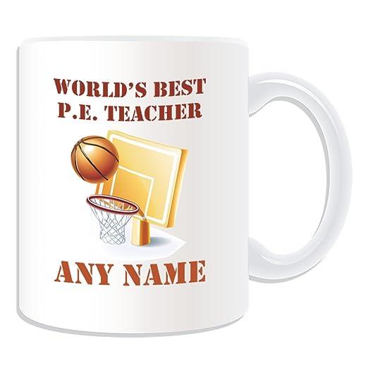 De regalo con mensaje personalizado - Worlds Best P.E, para ...