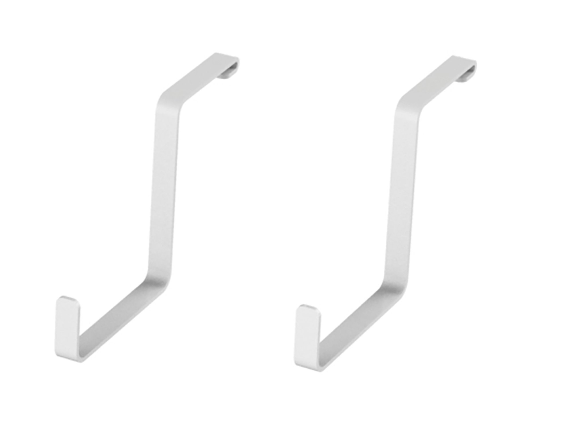 NewAge Products 40305 Accessories 2 Pack 4x8' Overhead Hooks, Garage Overheads, White