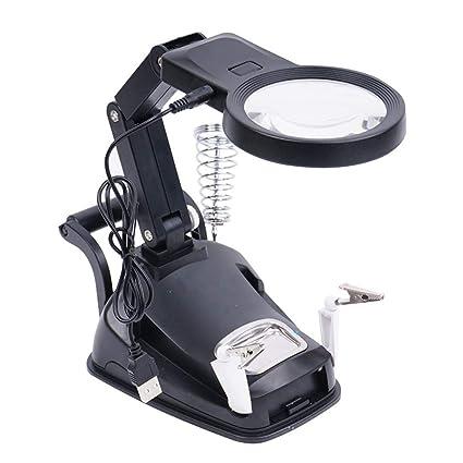 Amazon.com: Koimg - Lupa regulable con luz LED de tercera ...