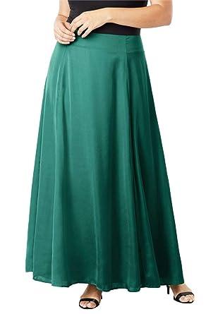 2bec3661ca1 Jessica London Women s Plus Size Flowy Maxi Skirt at Amazon Women s  Clothing store