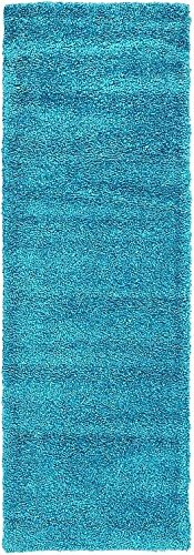 Unique Loom Solo Collection Turquoise 2 x 7 Runner Area Rug (2' 2