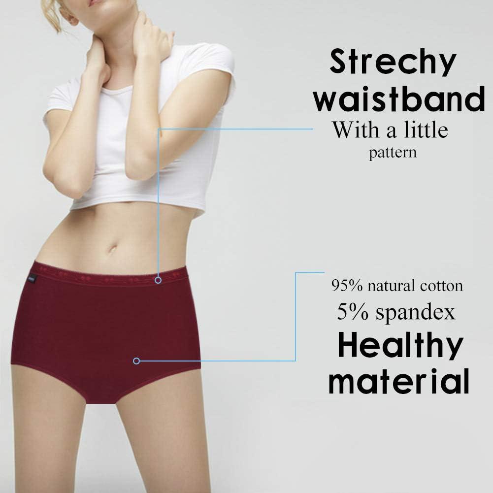 ASTEORRA Cotton Underwear Women White Panties High Waist Panties for Women Pack S M L XL XXL