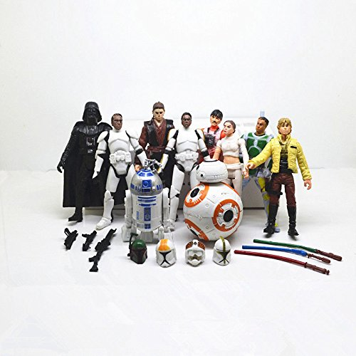 10pcs Movie Star Wars Action Figures Doll Kids Children Toy Set Gift Collection (Cartoon Star Dolls)