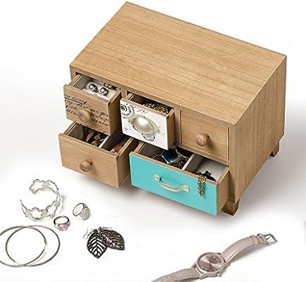 Balvi - Bureau Caja para Guardar Joyas. Joyero de Madera.: Amazon ...