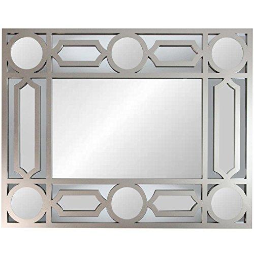 geometric openwork matte pewter gray