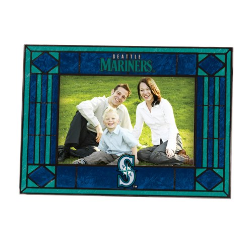 (MLB Seattle Mariners Art Glass Horizontal Frame)