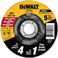 DEWALT DW8424B5 4-1/2-Inch by 0.045-Inch Metal Cutting Wheel, 7/8-Inch Arbor, 5-Pack from DEWALT